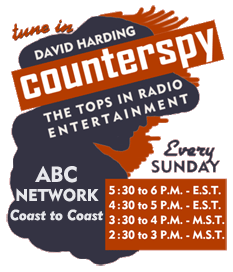 Bit-O-Honey matchbook cover promoting David Harding Counterspy over ABC