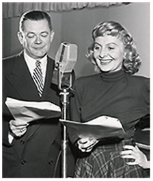 Croft and Hugh Studebaker, recording a Beaulah episode ca. 1954