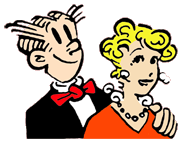 This is the updated Dagwood and Blondie that more contemporary fans have grown up with since the 60s.