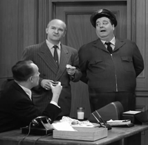 Les Damon with Jackie Gleason in The Honeymooners episode, A Dog's Life from 1956