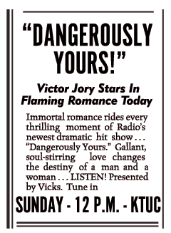 Dangerously Yours spot ad from July 22 1944