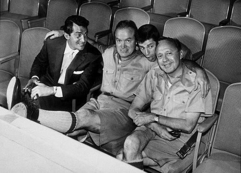 Dean Martin, Bob Hope, Jerry Lewis, and Jack Benny