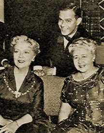 Verna Felton (right) with Harry Morgan and Spring Byington, c. 1957