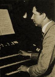 Del Castillo at the organ
