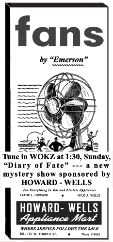 Diary of Fate Sponsor Ad from June 9 1948