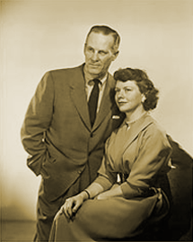 Don MacLaughlin with wife Helen Wagner circa 1955