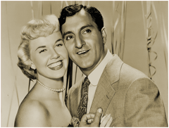 The March 28th 1952 premiere of The Doris Day Show featured guest star Danny Thomas seen here with Doris Day in a publicity clip from their 1952 hit film 'I'll See You In My Dreams'