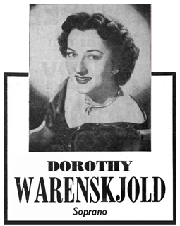 The San Francisco Opera Company star soprano referred to in The Devil and The Deep Freeze was Dorothy Warenskjold who appeared as herself.