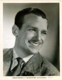Douglas Fairbanks fan card circa 1937