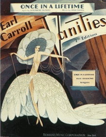 Earl Carroll Vanities Songbook cover from 1945
