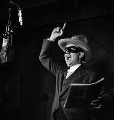 Earl Graser as Lone Ranger on WXYZ in 1937