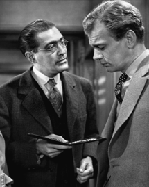 Edgar Barrier with Joseph Cotten in Journey Into Fear (1943)