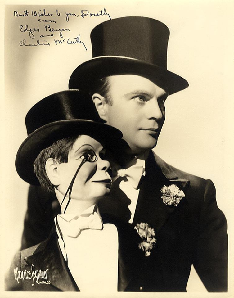 Autographed photo of Edgar Bergen and Chalie McCarthy