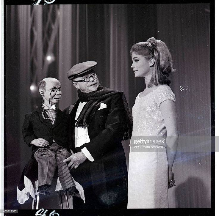 Edgar Bergen with Charlie McCarthy and his daughter Candice Bergen