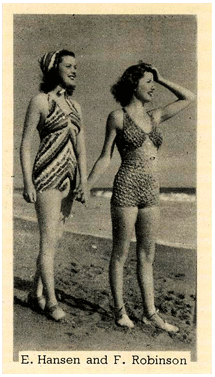 Eleanor Hansen and Frances Robinson on a Murray's Cigarette Card from the late 1930s (roll over the image for the back of the card)