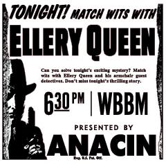 The Adventures of Ellery Queen was heard on all three networks from 1939 to 1948.