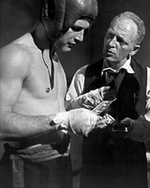 Everett Sloane with Paul Newman in Somebody Up There Likes Me (1956)