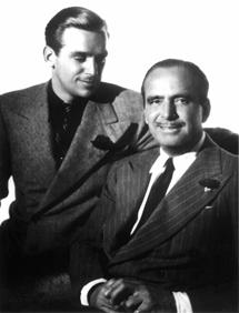 Douglas Fairbanks Jr. and Sr. circa 1938