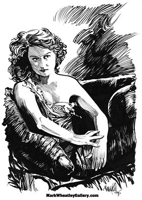 s she appeared in King Kong and as seen by my brush & ink! She gave every performance all she had, and she had quite a lot! Another of my star portraits that I managed to do while awaiting approvals on Super Clyde.