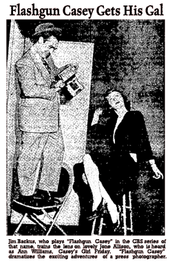 CBS publicity promo of Flashgun Casey, Aug. 1, 1943