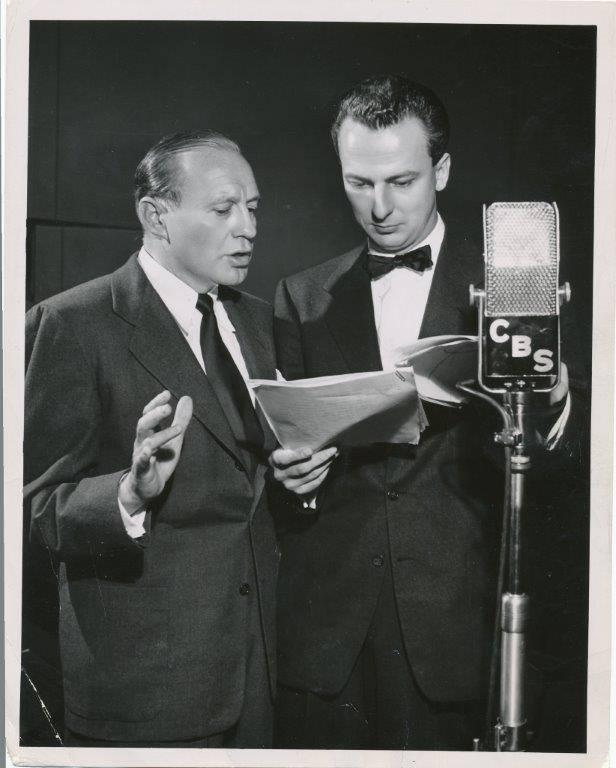 ACTOR Fletcher Markle and Jack Benny