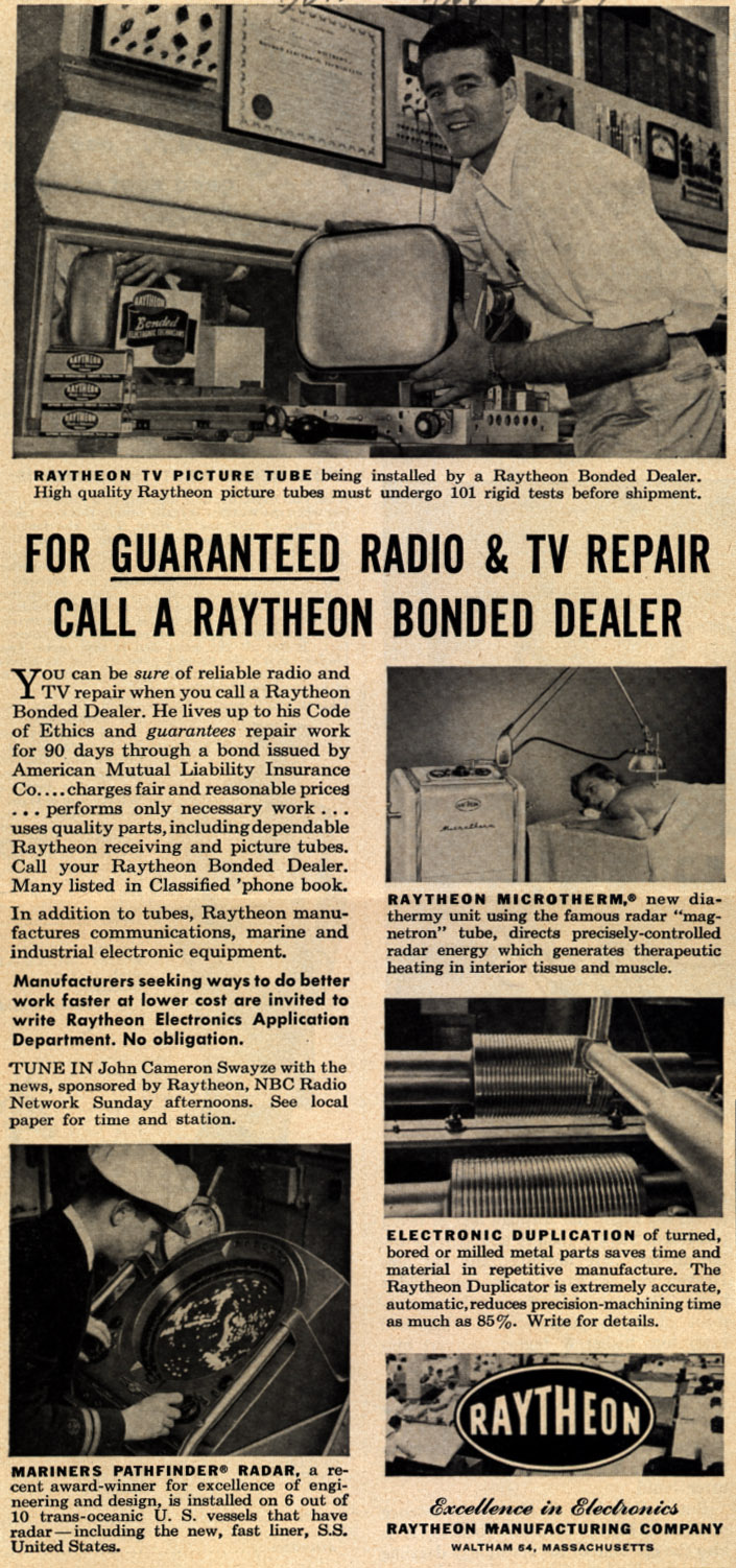 For_Guaranteed_Radio__TV_Repair_Call_A_Raytheon_Bonded_Dealer