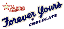 Third up for promotion over Curtain Time was Mars' Forever Yours bar, similar to the Milky Way bar, but substituting dark chocolate for milk chocolate and vanilla nougat for chocolate nougat.
