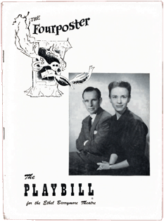 Original Playbill for The Fourposter Stage Play