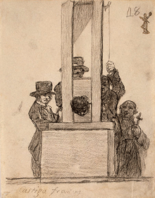 One of The League of The Scarlet Pimpernel's driving forces was the widespread use of Madame la Guillotine during France's Reign of Terror of the 1790s