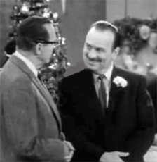 Frank Nelson with Jack Benny c. 1958