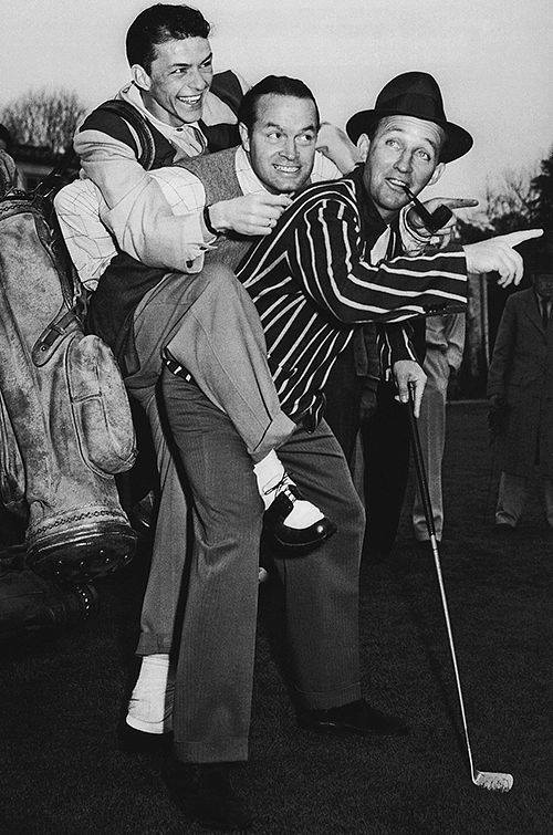 Frank Sinatra, Bob Hope, and Bing Crosby