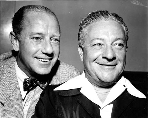 these two men had the top radio series in the country, a real sensation. Radio had never seen anything like it. Yet they could walk down any main street in America and be totally unrecognized. Freeman Gosden and Charles Correll, AMOS 'N' ANDY, seen here in a 1948 portrait.