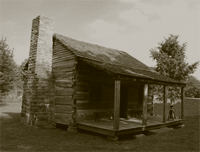 This was the Western Territories equivalent of a 'mansion' for 19th Century frontier families. Tens of housands of one-room structures like this were homes to families of six to nine family members. Far larger families were a necessity in hope of assuring the survival of at least four or five family members healthy enough to work a homestead.