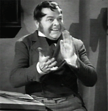 Gene Lockhart in one of his most fondly remembered roles as Bob Cratchit in 1938's A Christmas Carol