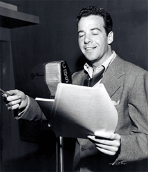 Gerald Mohr in recording session for CBS, ca. 1950