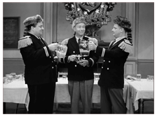 Gibson with Art Carney and Jackie Gleason in The Honeymooners, ca. 1956