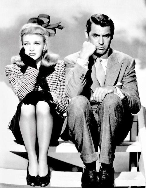 Ginger Rogers and Cary Grant in 'Once upon a Honeymoon'