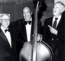 Glenn Osser (left) with 'Slam' Stewart and Bob Haggert c.1982