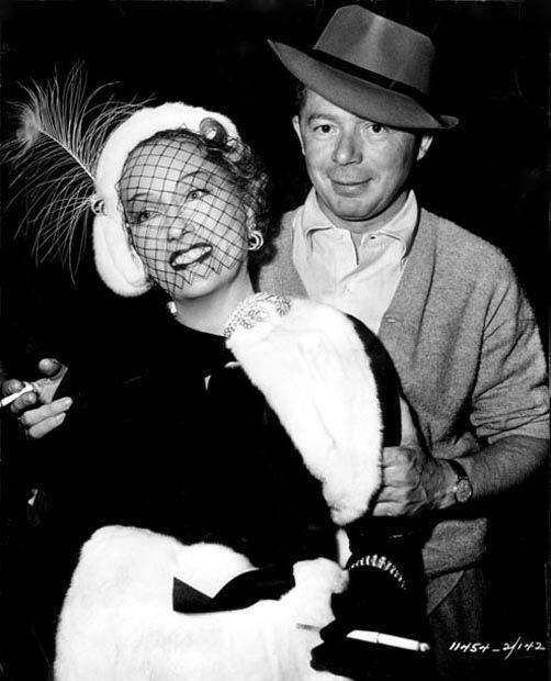 Gloria Swanson and Billy Wilder on the set of 'Sunset Boulevard', 1950