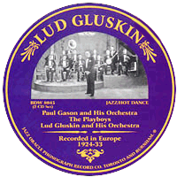 Lud Gluskin record label from his European recordings