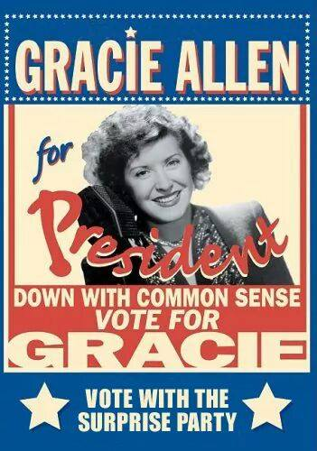 Poster for Gracie Allen for President