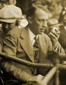Graham McNamee at the mike circa 1924