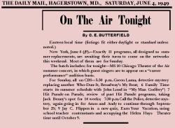 Green Lama Announcement June 4, 1949