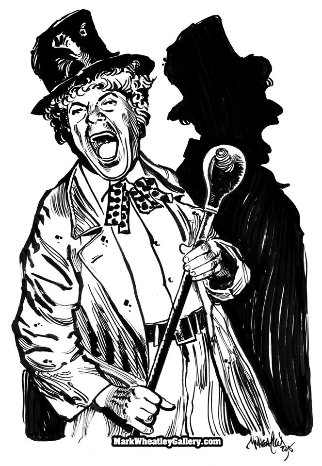 Harpo was one of the greatest clowns, ever! This is how I see him - in brush and ink.