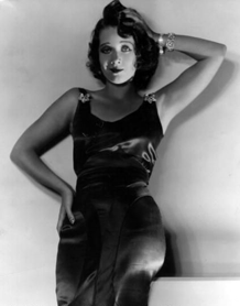 Harriet Lake vamping it for publicity photo circa 1929