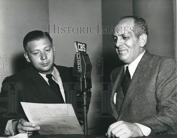 Harry Von Zell and Gabriel Heatter.
