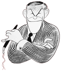 Al Hirscheld sketch of George Burns