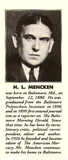 A thumbnail sketch of H.L. Mencken, ca. 1931