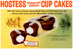 Hostess Cup Cakes ad from 1943