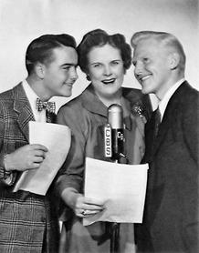 House Jameson with Jackie Kelk and Katharine Raht as The Aldrich Family ca. 1945